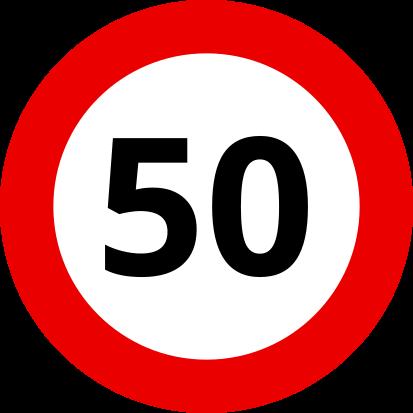 Im Österreichischen Ortsgebiet darfst Du mit Deinem Wohnwagen 50 km/h schnell fahren.