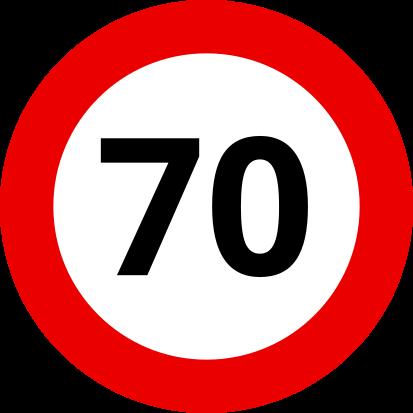 Auf den Landstraßen Ungarns sind 70 km/h mit Deinem Wohnwagen erlaubt.