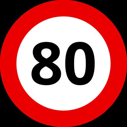 Auf kroatischen Landstraßen darfst Du mit Deinem Wohnwagen 80 km/h schnell fahren.