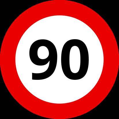 Auf Kroatischen Autobahnen darfst Du mit Deinem Wohnwagen 90 km/h schnell fahren.