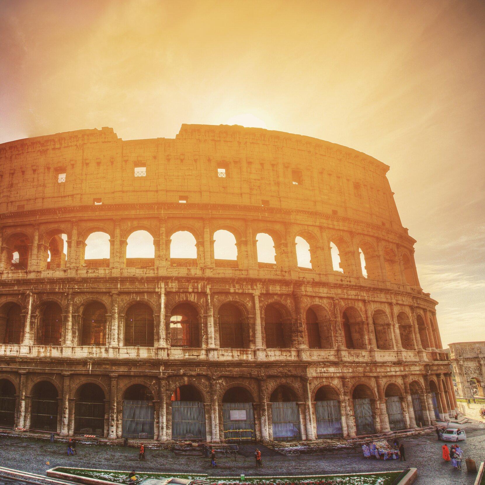 Colosseum in Rom, der Hauptstadt Italiens