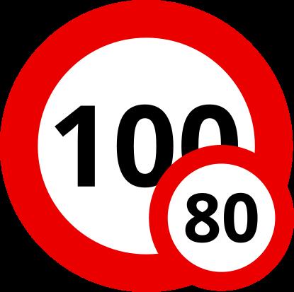 Auf Österreichs Autobahnen darfst Du mit Deinem Wohnwagen 80 km/h schnell fahren.