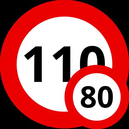 Auf Slowenischen Schnellstraßen sind unter 3,5 Tonnen Gesamtgewicht 110 km/h, darüber nur 80 km/h mit Deinem Wohnwagen erlaubt.