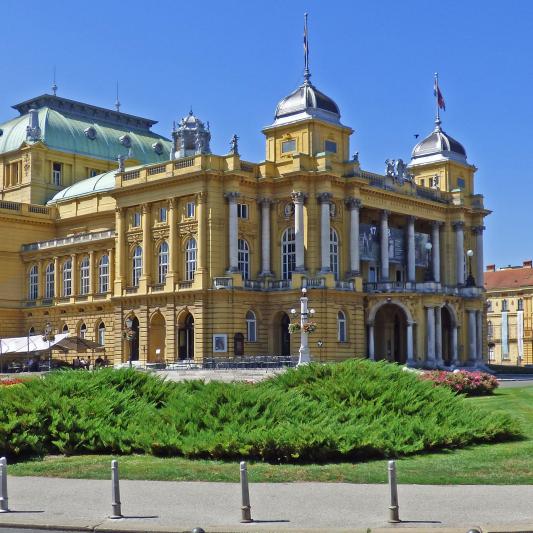 Theater in Zagreb, der Hauptstadt Kroatiens