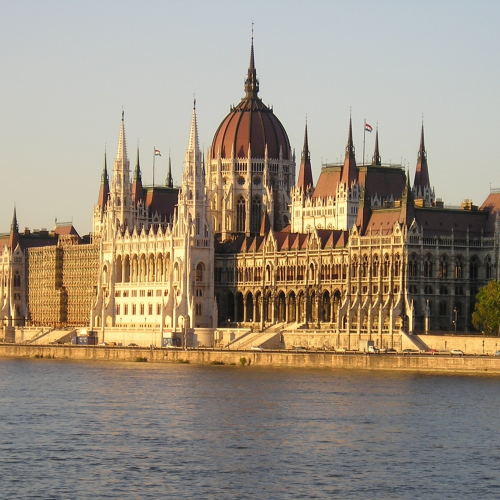 Parlamentsgebäude in Budapest, der Hauptstadt Ungarns