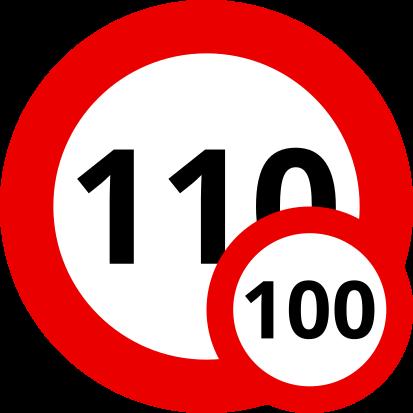 Auf Französischen Schnellstraßen sind 110 km/h, bei Nässe und für Fahranfänger nur 100 km/h erlaubt.