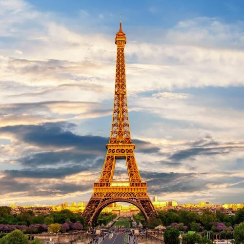 Eiffelturm in Paris, der Hauptstadt Frankreichs